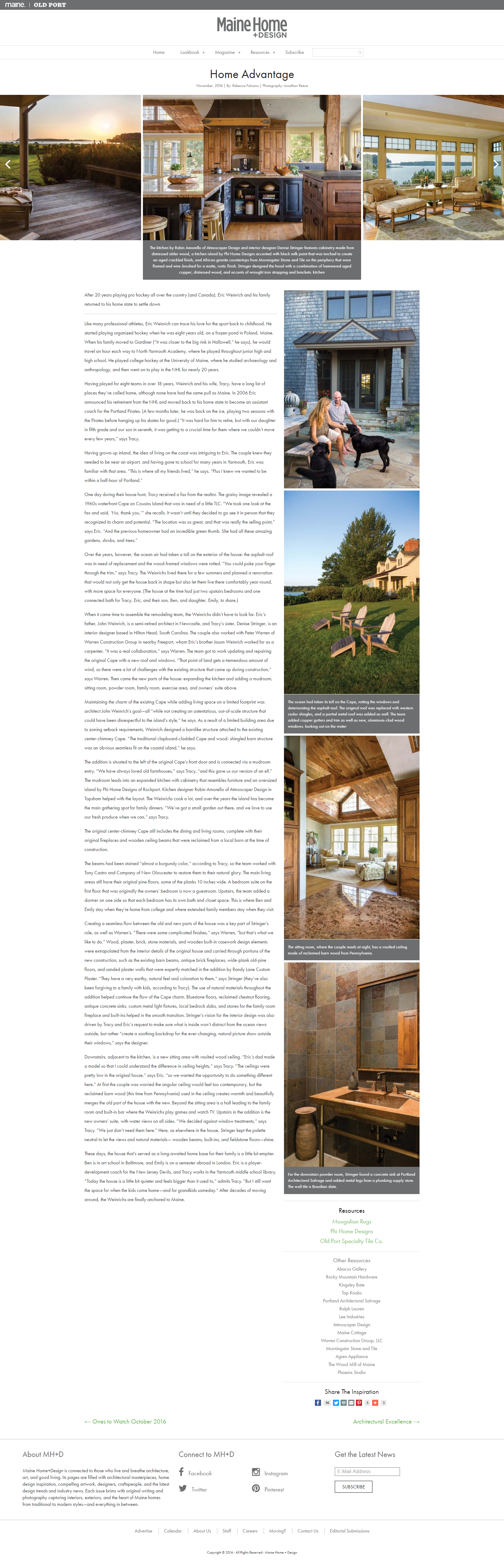 Home Advantage, Home Design