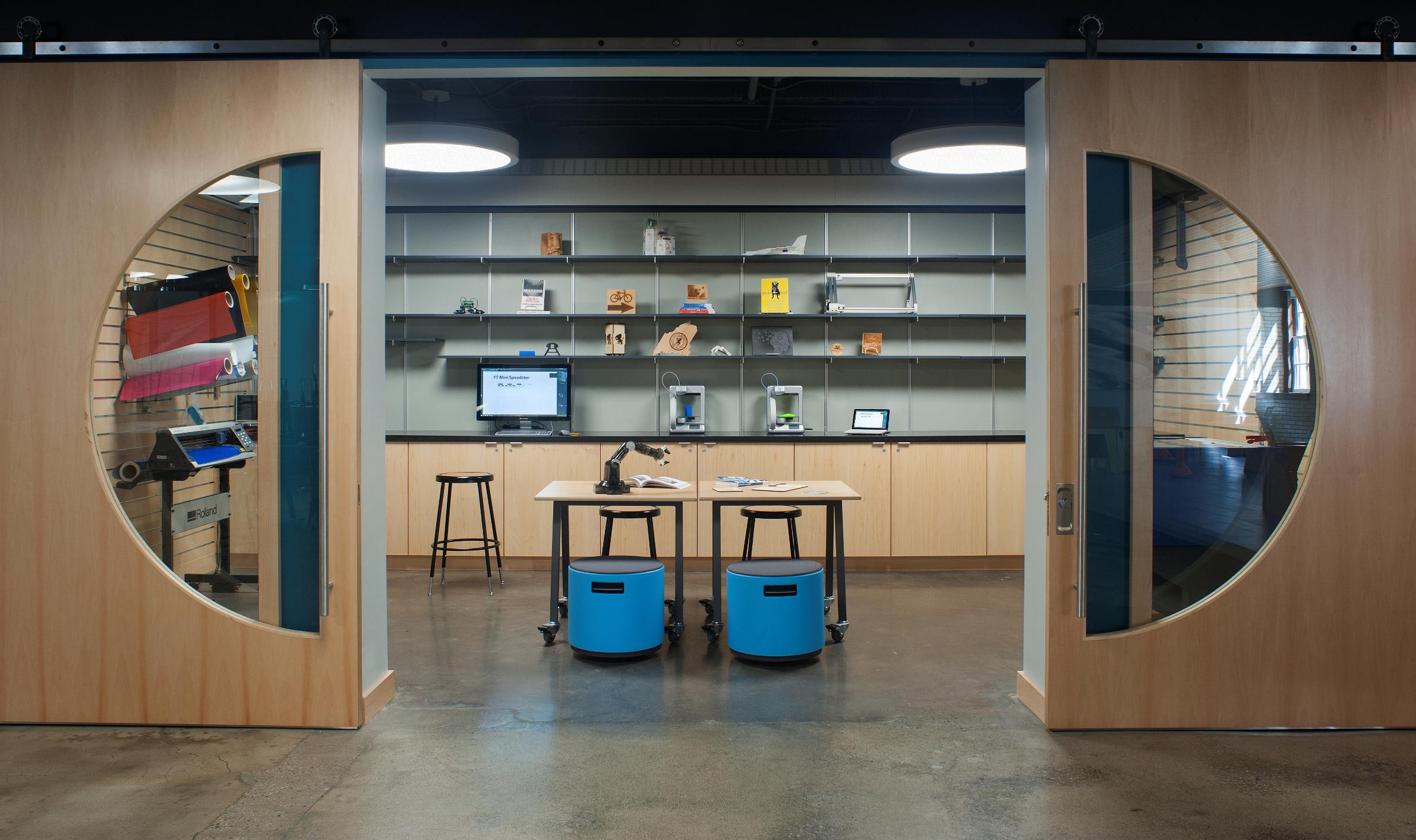 Makerspace, IDEAS, Gould Academy, School, classroom, technology classroom