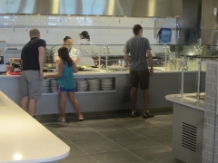 Kents Hill Dining Hall serving bar