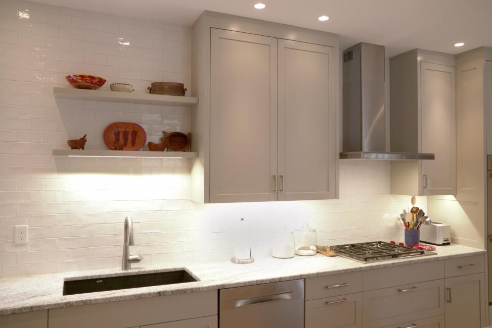 Kitchen redesign, under cabinet lights