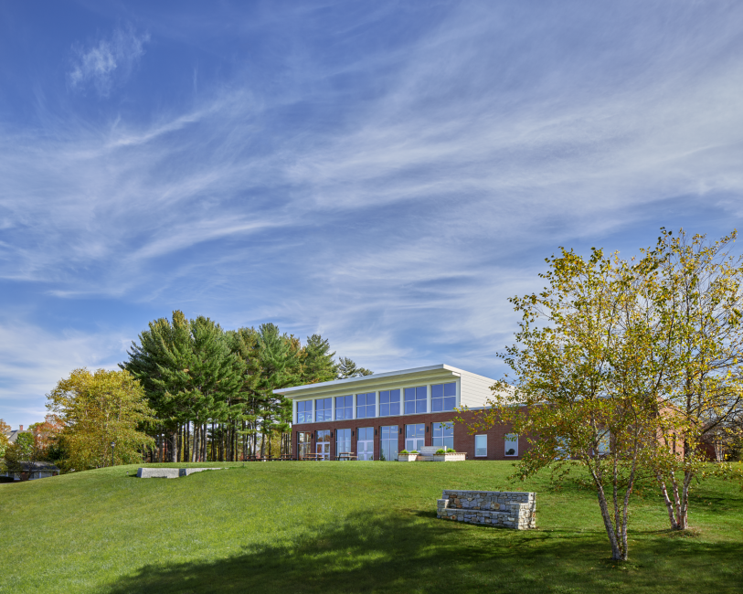Dining Hall at Kents Hill School, Glass Wall