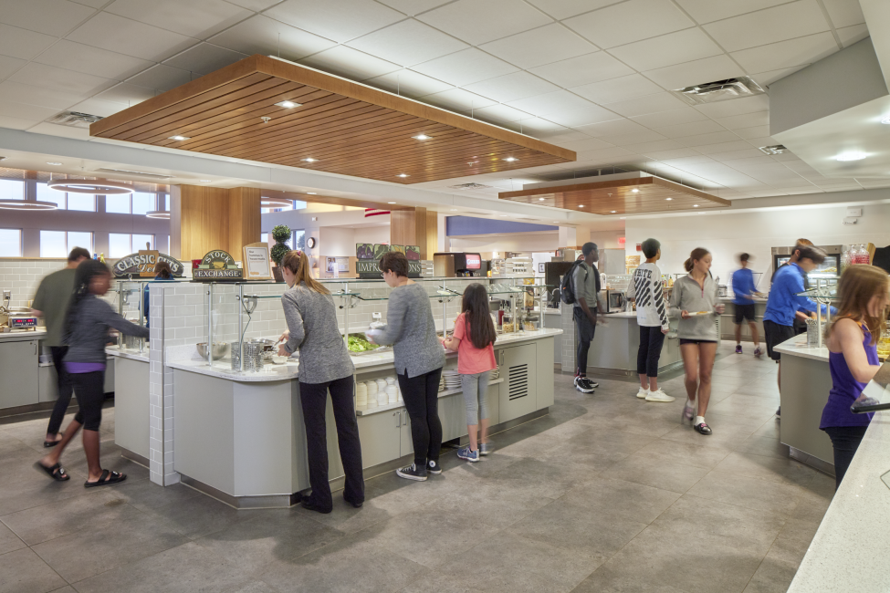 Scatter Design Serving Area and Food Bar, Kents Hill School