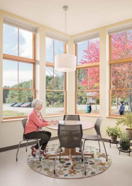 Common area office space, Maine Coast Waldorf School Community Hall