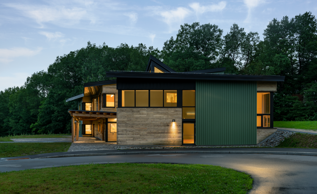 Maine Coast Waldorf School, Passive House High School, Evening