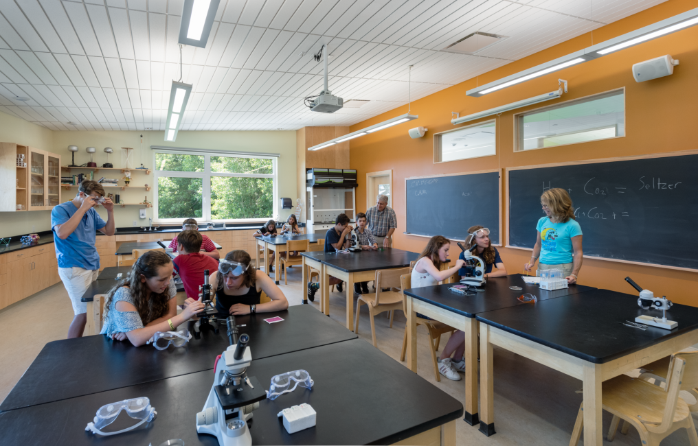 Class Room Space, Kids Science Class, Maine Coast Waldorf School, Freeport Maine