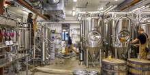 Brew Room and Brewery Tanks, Foulmouthed Brewery