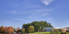 Kents Hill School Dining Hall Over Looking Campus and Fields