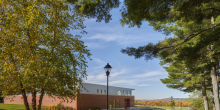 Dining Facility with Fall Foliage in Background, Kents Hill School