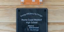 Passive House PHIUS certification, Maine Coast Waldorf High School, Freeport Maine
