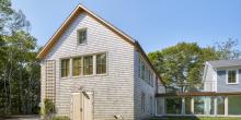 Cedar Shingle Addition with Glass Breezeway