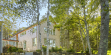 Stone Wall and Steps, Cedar Shingle Addition