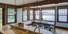 kitchen wet bar, dinning table water views