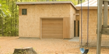 Cedar siding, Cedar garage doors, garage