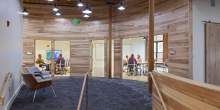 Conference Rooms Nature Conservancy, Curved Wood Walls
