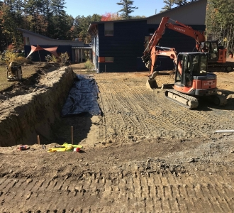 Site work at Friends School, Maine, School Construction