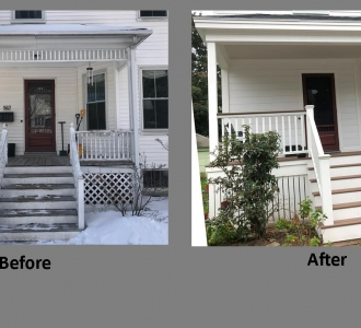 renovation of porch